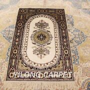 Yilong 2.5and039x4and039 Antique Handmade Silk Area Rug Home Decor Indoor Carpet Lh947b