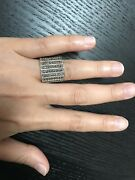Yemeni Silver Womens Ring Wide Big With Marcasite Stones
