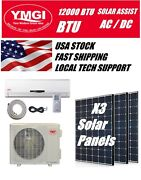 Ymgi 12000 Btu Ac Dc Ductless Mini Split Air Conditioner Up To 32 Seer 3 Panels