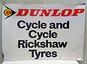Dunlop Cycle And Cycle Rickshaw Tire Advertise Tin Sign Collectibles Transport