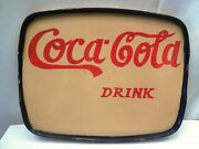 Drink Coca Cola Advertising Serving Tray Hand Painted Collectibles Soft Drink