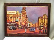 Firestone Tire Vintage Advertising Print Frame Litho Collectibles Wall Hanging