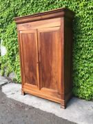 Antique 2-door Capuccino Cabinet In Walnut - Restored In Progress