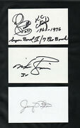 Jerry Norton Safety Philadelphia Eagles Signed Autographed Index Card 3x5