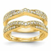 14k Gold Diamond Guard Ring Size 7 0.45ctw Msrp 3556