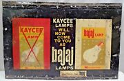 Lamp Lantern Vintage Tin Sign Litho Print Advertise Bulb Electric Collectibles3