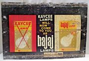 Lamp Lantern Vintage Tin Sign Litho Print Advertise Bulb Electric Collectibles1