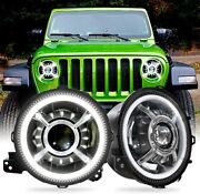 9 Inch High/low Beam Led Headlights With Drl With Halo Ring For Jeep Wrangler Jl