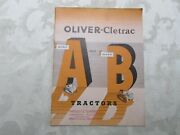 Rare Oliver Cletrac Crawler Model A And B Sales Brochure 1948 32 Pages