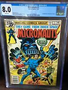 Micronauts 1 - Cgc 8.0 - Ow/w Pages - 1st Appearance Baron Karza - Movie
