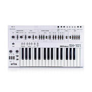 Roland Sh-101 Custom White + Cover Rare Vintage Analog Synthesizer Sh101 Synth