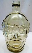 Old Monk Shape Advertise Glass Bottle Vintage Decorative Rum Wine Gin Collectib