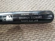 Shannon Stewart Game Used Repaired Mlb Baseball Bat Blue Jayand039s Twins Aand039s