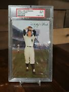 1953-55 Dormand Post Card Whitey Ford Psa 7 Nm Low Pop None Higher Yankees Rare