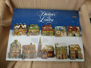 Dickens Of London 10 Porcelain Collectables - Illuminated Miniature Houses 1991