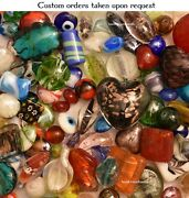 Lampwork Beads 1 Lb Bulk Mixed Style And Colors Handmade Glass