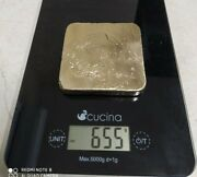 655 Grams Scrap Gold Bar For Gold Recovery Melted Different Computer Coin Pins