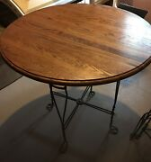 Antique Heart Iron Table And Four Chairs