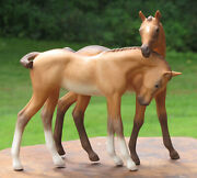 Cybis Horses Porcelain Foals Statue Colt Filly 1969 Darby And Joan Figurine Rare