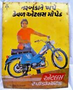 Scooter Moped Advertise Atlas Speedomatic Dx Vintage Tin Sign Collectibles 1