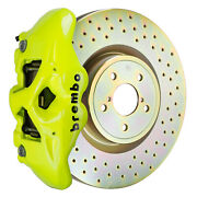 Brembo Bbk For 15-19 Wrx Excl. Models W/ Electronic Front 4pot Yellow 1s4.6002a7