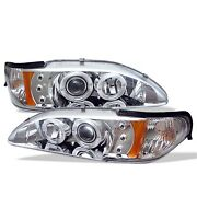 Spyder Auto 5010407 Halo Led Projector Headlights Fits 94-98 Mustang