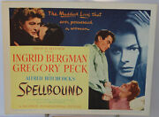 Spellbound Lobby Title Card, Hitchcock, Ingrid Bergam, Gregory Peck, 1945