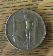 1915 Panama Canal Opening San Francisco Worlds Fair Antique Medal Token - Nice