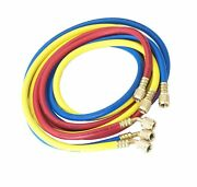 Robinair 30060 1/4 Standard Hoses With Standard Fittings Set - 60 Set Of 3