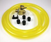 Fumoto F111s Oil Drain Valve With Hd Pro 3' Hose Kit For Fumoto S And Sx Nipple