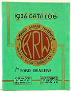 1936 K.r. Wilson Ford Dealerand039s Service Tools And Garage Equipment Catalog