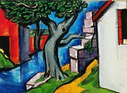 Mystic Tree Painting By Oscar Bluemner Art Reproduction