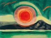 Sunset On The St. Lawrence Painting By Oscar Bluemner Art Reproduction