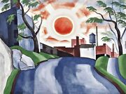 Sunset Painting By Oscar Bluemner Reproduction