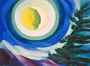 Moon Radiance Painting By Oscar Bluemner Art Reproduction