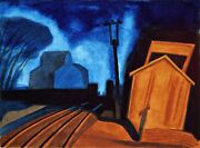 Flag Station, Elizabeth, New Jersey Painting By Oscar Bluemner Art Reproduction