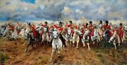 Stretched Canvas - Scotland Forever Painting By Elizabeth Thompson Reproduction