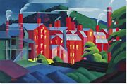 Stretched Canvas - Jersey Silkmills Painting By Oscar Bluemner Reproduction