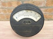 Early 1900and039s Antique Electrical Meter Weston Wattmeter Model 167