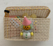 Vintage Wood Wicker Nursery Toy Box Chest Dollhouse Mini Signed Numbered Artist