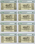 3 1863 State Of North Carolina Raleigh Pmg Lot Of 8 Serial 3448 Plates A-h