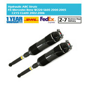 Pair Rear Hydraulic Abc Absorber Struts Fit Mercedes Benz W220 S600 C215 Cl600