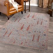 8x10 Cypress Tree Rug , Modern Handknotted Area Rug , Gifts For Mom 3401