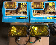 2 X Marchal 750 759 - Headlights Chrome/spotlights Multi-brand Marchal 750-759