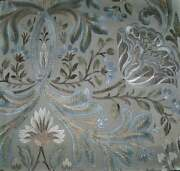 Colefax And Fowler William Morris Inspired Linen Fabric 10 Yards Silver Multi