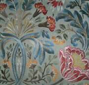 Colefax And Fowler William Morris Inspired Linen Fabric 10 Yards Blue Multi