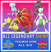 Pokemon Sword And Shield ⚔️ All 26 Legendary 🔥 6iv✨pokemon Home Fast Delivery
