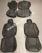 2010 2011 Nissan Xterra Graphite Factory Style Leather Seat Replacement Covers