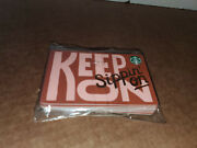15x Starbucks Gift Card Andldquo Keep On Sippin Onandrdquo No Cash Or Credit -gold Lettering