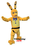 Five Nights At Freddyand039s Fnaf Golden Bonnie Mascot Costume Free Shipping